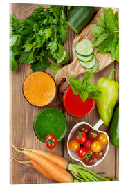 Akrylglastavla  Fresh vegetable smoothie