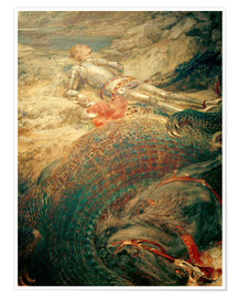 Premiumposter  Saint George and the Dragon - Briton Riviere