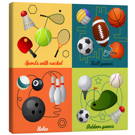 Canvastavla  Do some sports - Kidz Collection