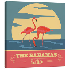 Canvastavla  The Bahamas - Flamingo