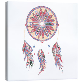 Canvastavla  Dream Catcher red-blue