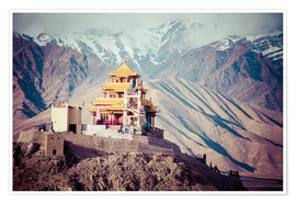 Premiumposter  Monastery in the Himalayas