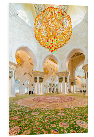 PVC-tavla  Sheikh Zayed mosque in Abu Dabi