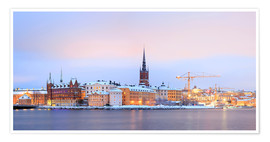 Premiumposter Panoramic cityscape of Stockholm, Sweden