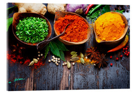 Akrylglastavla  Colorful spices diversity