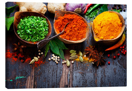 Canvastavla  Colorful spices diversity