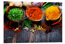 PVC-tavla  Colorful spices diversity