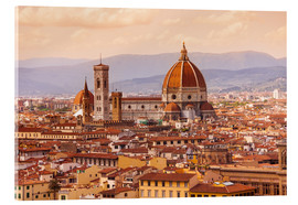 Akrylglastavla  Florence Cathedral in evening light