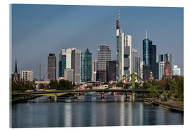 Akrylglastavla  Skyline Frankfurt am Main Shining Morning - Frankfurt am Main Sehenswert