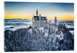 Akrylglastavla  Neuschwanstein in the snow