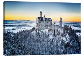 Canvastavla  Neuschwanstein in the snow