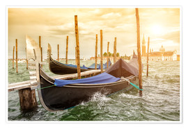 Premiumposter Gondolas in the wind