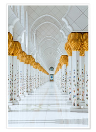 Premiumposter Detail of Sheikh Zayed Mosque