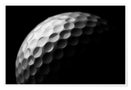 Premiumposter  Golf ball in the macro