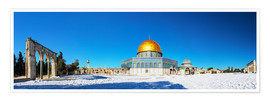Premiumposter  Dome of the Rock mosque in Jerusalem, Israel