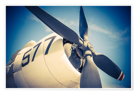 Poster  Propeller of a military plane