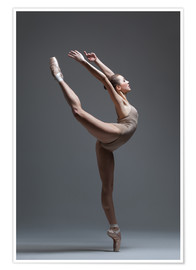 Poster  Young and beautiful dancer