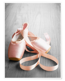 Premiumposter  pink ballet shoes