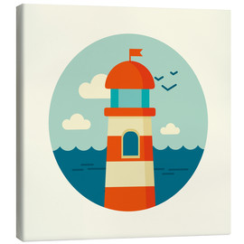 Canvastavla  Lighthouse in a circle - Kidz Collection