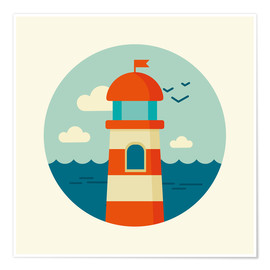 Premiumposter  Lighthouse in a circle - Kidz Collection