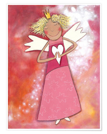 Poster  Blonder guardian angel for girls - Atelier BuntePunkt