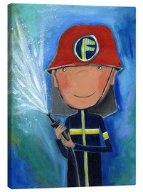 Canvastavla  My little hero Fireman Julius - Atelier BuntePunkt