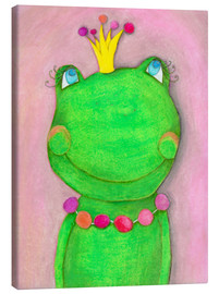 Canvastavla  The frog queen and the colorful crown - Atelier BuntePunkt