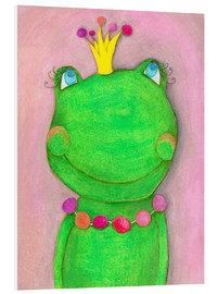 PVC-tavla  The frog queen and the colorful crown - Atelier BuntePunkt