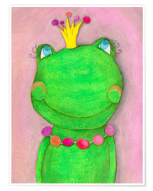 Poster  The frog queen and the colorful crown - Atelier BuntePunkt