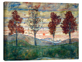Canvastavla  Four trees - Egon Schiele