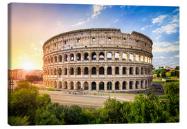 Canvastavla  Colosseum at sunset in Rome, Italy - Jan Christopher Becke
