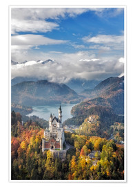 Premiumposter Neuschwanstein Castle at Autumn