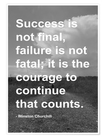 Premiumposter  Winston Churchill on Courage - Finlay and Noa