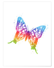 Premiumposter Butterfly watercolor