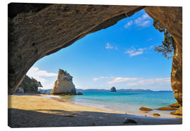 Canvastavla  Cathedral Cove - Denis Feiner