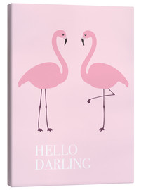 Canvastavla  Hello Darling Flamingo - Finlay and Noa