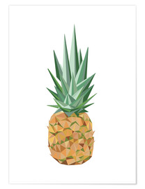 Premiumposter  Polygon pineapple - Finlay and Noa