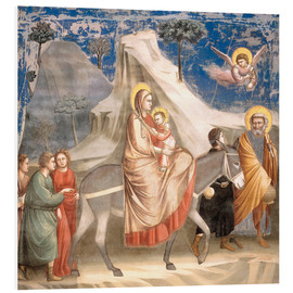 PVC-tavla  The Flight to Egypt - Giotto di Bondone