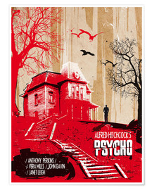 Poster  Alfred Hitchcock's, Psycho - 2ToastDesign