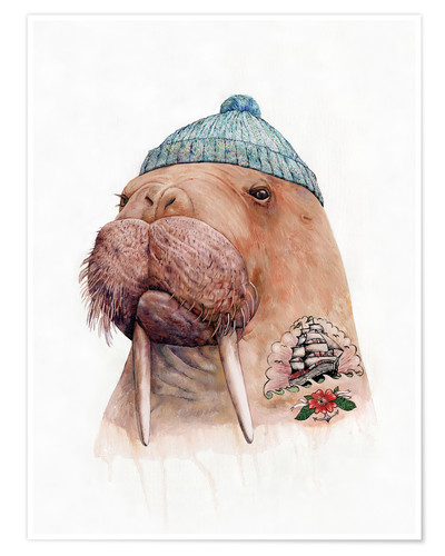 Poster Tattooed Walrus
