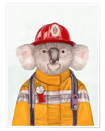 Premiumposter  Koala Firefighter - Animal Crew
