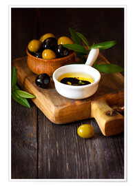Premiumposter  Green and black olives