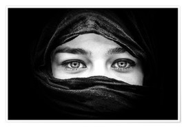 Premiumposter  Woman with black scarf