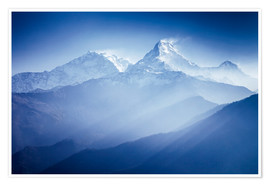 Premiumposter Annapurna mountains in sunrise light