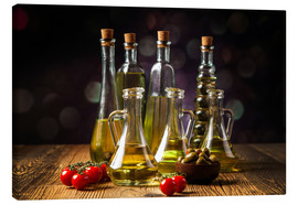 Canvastavla  Oils and spices