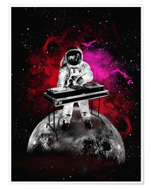 Premiumposter  Space Astronaut DJ - 2ToastDesign