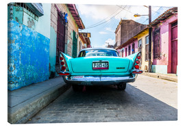 Canvastavla  Oldtimer in Cuba - Reemt Peters-Hein