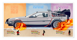 Poster  Back to the Future, DeLorean - HDMI2K