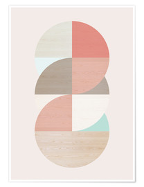 Premiumposter Wooden circles