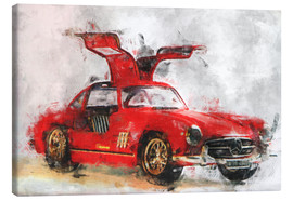 Canvastavla  Oldtimer - red - LoRo-Art